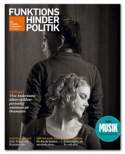 Omslaget till Funktionshinderpolitik #4/2016. Ylva Andersson och hennes assistent Thantip Troksan fotograferade av Anna Rehnberg.