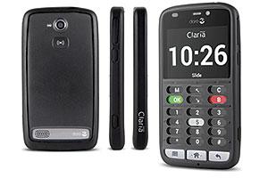 Doris telefon för blinda och synskadade har ett taktilt hölje som guidar till knappar och funktioner.
