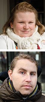 Porträtt Maria Johansson och Mikael Berghman