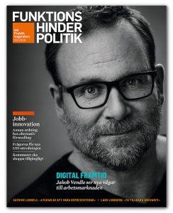 Omslaget till Funktionshinderpolitik 3-2016. Ett porträtt av Jakob Vendle.